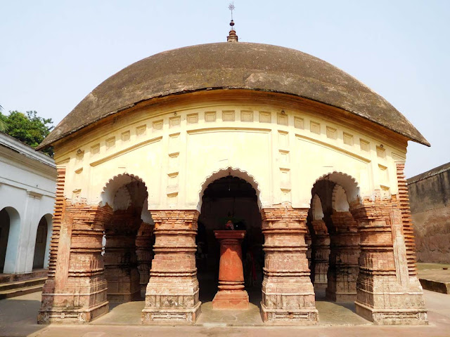 The char-chala Nat-mandapa of the Lalaji Temple, Kalna Rajbari Temple complex, West Bengal