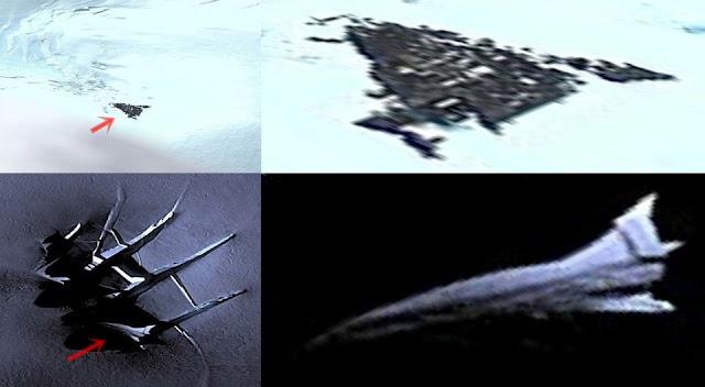 Unknown spacecraft and ancient triangle UFO discovered in Antarctica  Antarctica-crashed-ufo-space%2Bshuttle%2B%25281%2529