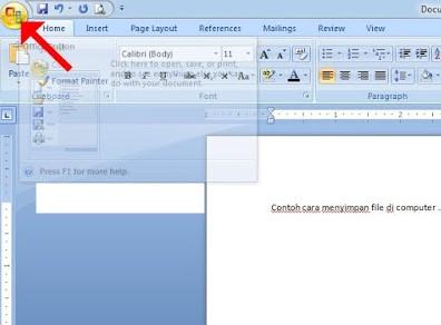 Cara Menyimpan File di Komputer
