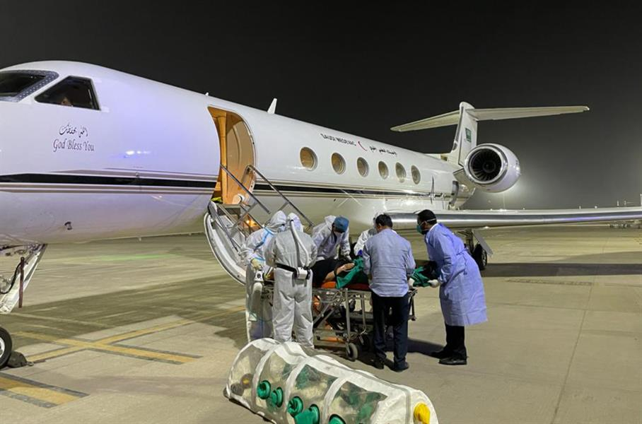 In Implementation Of The Directives Of The Custodian Of The Two Holy Mosques  In Implementation Of The Directives Of The Custodian Of The Two Holy Mosques … Air Medical Evacuation Transports A Saudi Family Infected With Coronavirus From Republic of Republic of India
