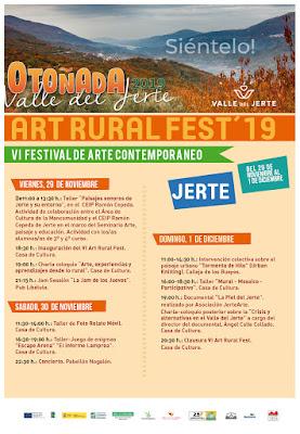 VI Art Rural Fest, Jerte. 29 noviembre a 1 diciembre.