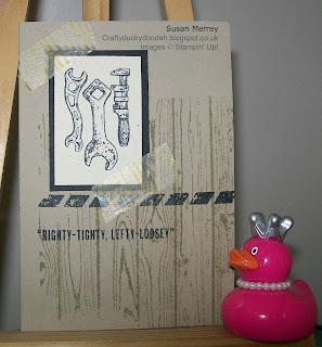 Stampin' Up! Made by Independent Stampin' Up! Demonstrator Susan Merrey Craftyduckydoodah! Guy Greetings Hardwood Typeset DSP