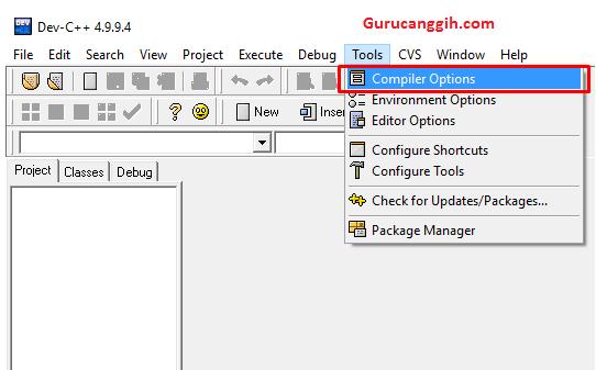 Klik Compiler Option