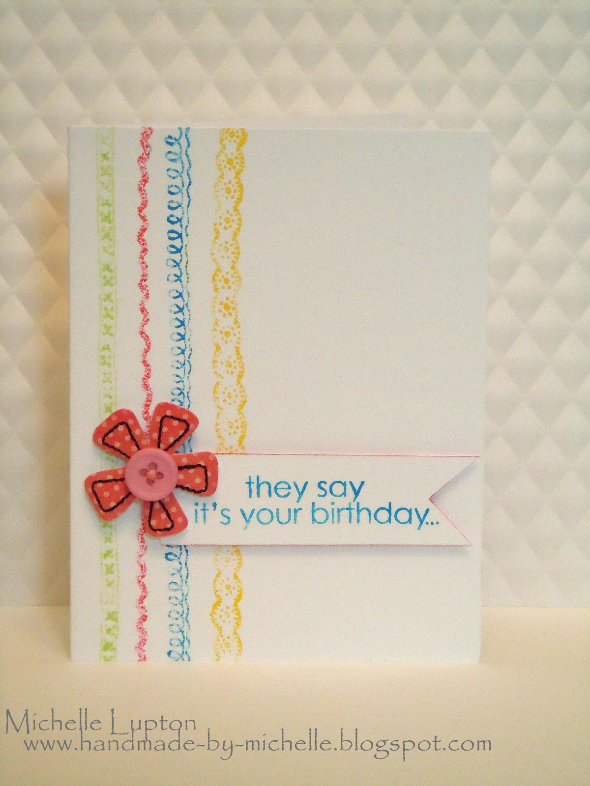 Handmade By Michelle: Colour Q, Clean And Simple And