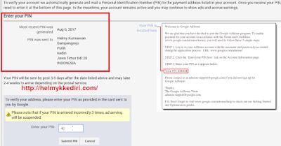 Verifikasi PIN google adsense dengan KTP1