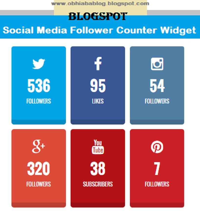 BlogSpot Social Media Follower Counter Widget