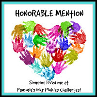 HONORARY MENTION OVER AT PAMMIE'S INKY PINKIES CHALLENGE