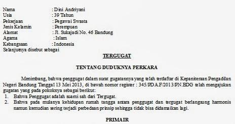 Contoh Surat Talak Cerai Terbaik 2019 Kumpulan Contoh