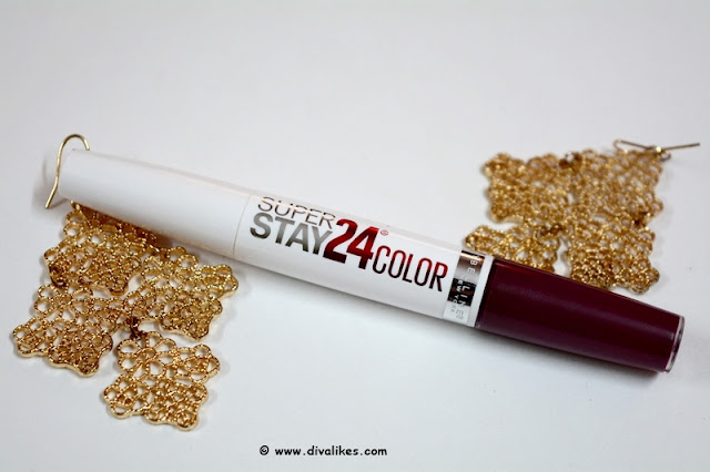 Maybelline New York Superstay 24 Color 2 Step Lipstick 065 Constantly Cabernet Review
