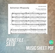 Bohemian Rhapsody - Queen Music Sheet SATB PDF File