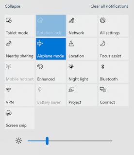 Mode Pesawat menyala sendiri di Windows 10