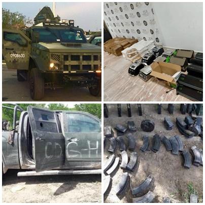 """Por fin reciben órdenes de """"arriba"""": fuerzas federales aseguran drogas, armas, dinero y vehículos"""