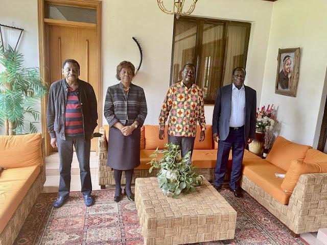 ODM leader Raila Odinga meets BBI patriots