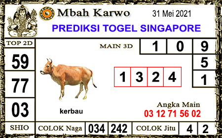 Prediksi Jitu Mbah Karwo SGP senin 31-05-2021