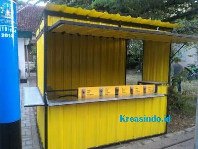 Harga berbagai macam Gerobak Booth Besi Semi Kontainer