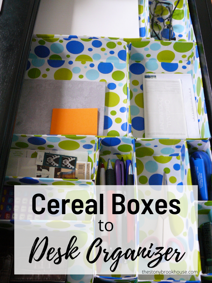 Cereal Box Organizer finished