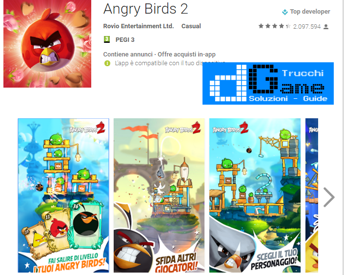 Trucchi Angry Birds 2 Mod Apk Android v2.12.2