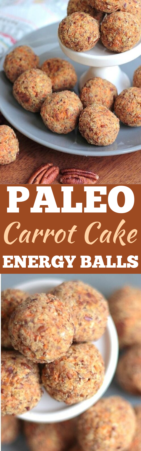 Paleo Carrot Cake Energy Balls #healthy #snacks