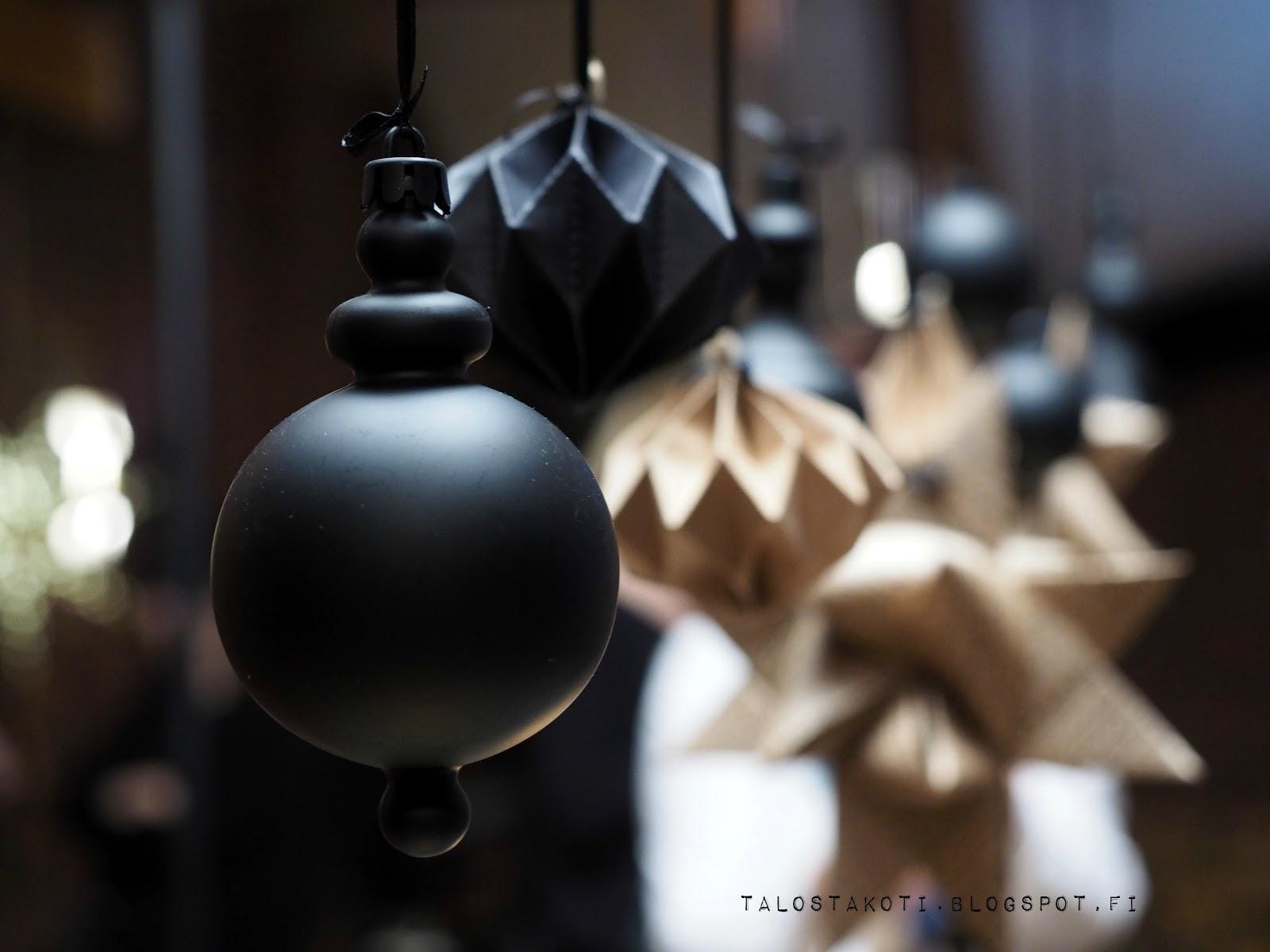 ikea jouluilta 2016 musta joulukoriste