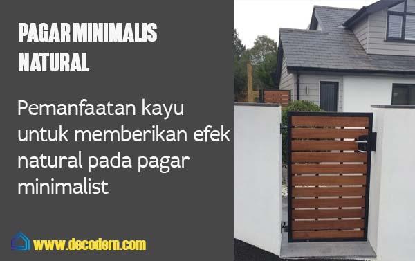 pagar minimalist natural