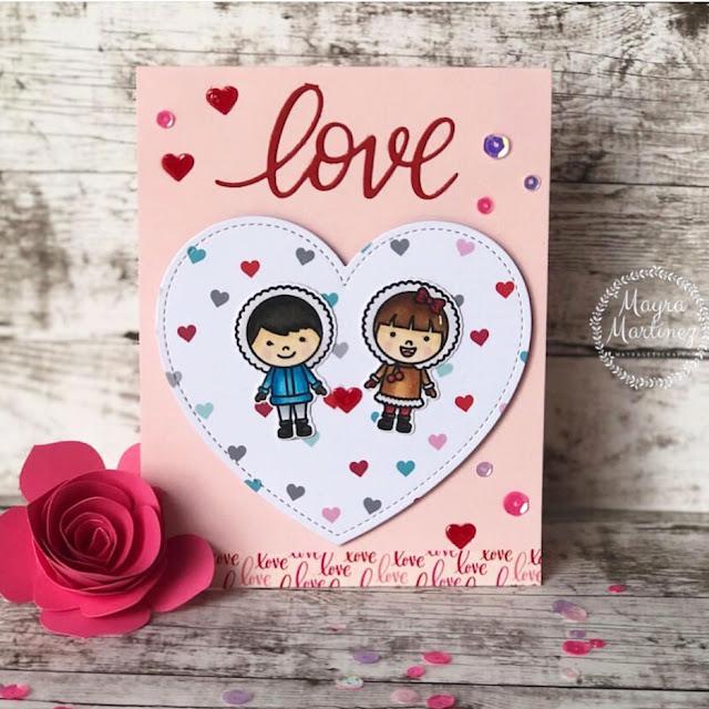 Sunny Studio Stamps: Eskimo Kisses Customer Card Share by Mayra Martinez