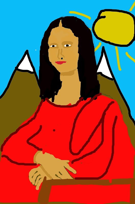 Mona Lisa Drawing