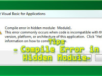 Mengatasi Compile Error in Hidden Module Excel