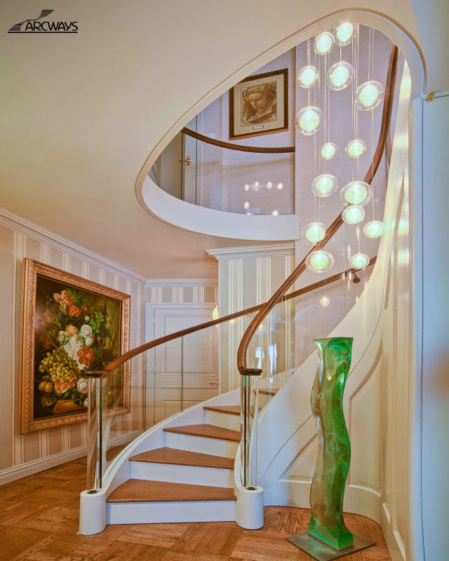 Luxury Classic Stairs Designs And Interior Stair Railing Ideas | Steps Railing Designs With Glass | Terrace Staircase | Tempered Glass | Indoor | Crystal | Small Space