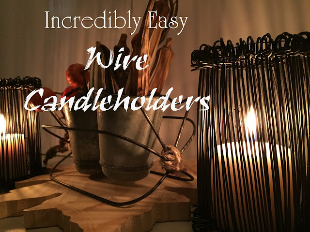 incredibly easy wire candleholders, all time easiest!