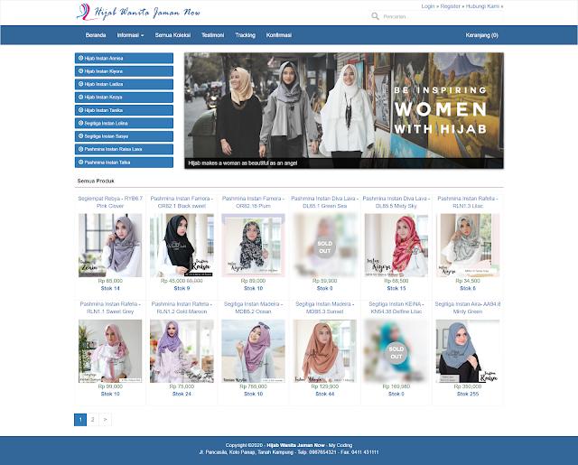 Source Code Website Toko Online Codeigniter php7