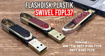 Souvenir Flashdisk FDPL27, USB Plastik Swivel, flashdisk swivel promosi, flashdisk putar, souvenir flashdisk plastik, usb promosi putar