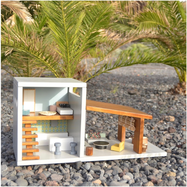 Wooden dollhouse from Macarena Bilbao