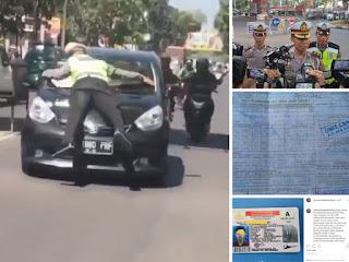 Polisi ditabrak di Bandung