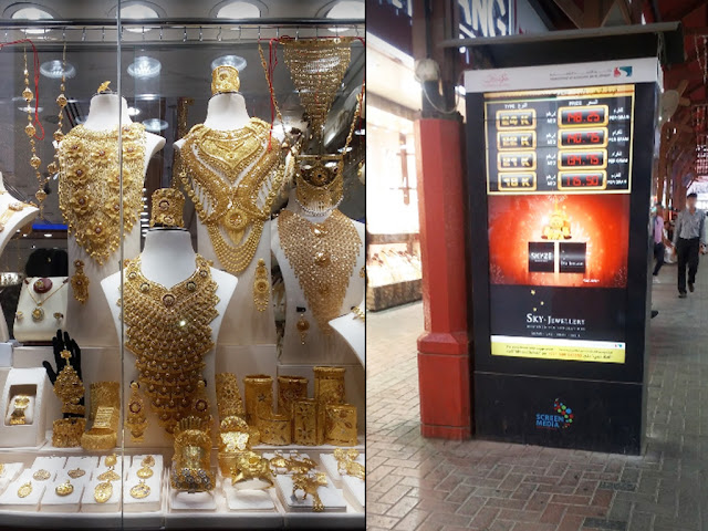 Gold Souk Dubai- Rates Display