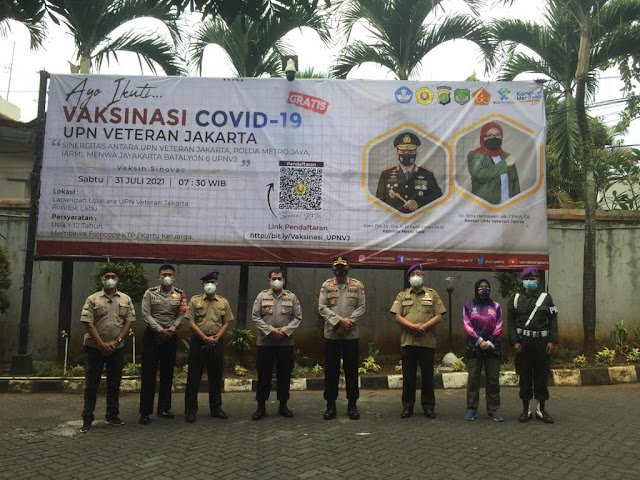 Direktorat Binmas Polda Metro Jaya Gelar Vaksinasi 1.700 Dosis bersama UPN Veteran Jakarta