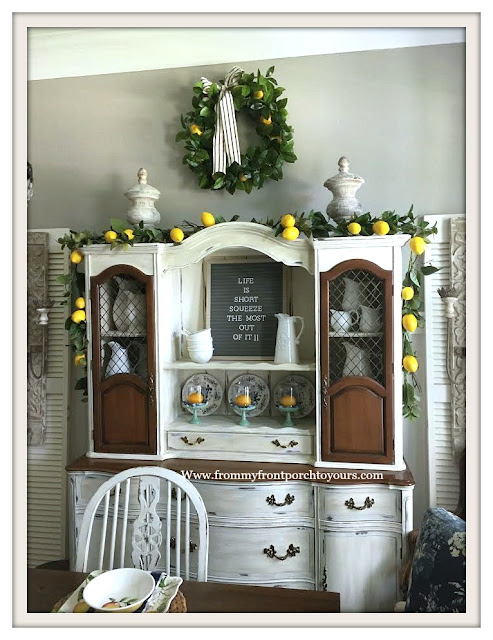 French Country-Hutch-Late- Summer-Dining -Room -Decor-From My Front Porch To Yours