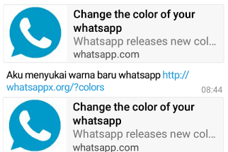 "Awas Jangan Klik! Jika Menerima Pesan ""Change The Color of Your WhatsApp"""