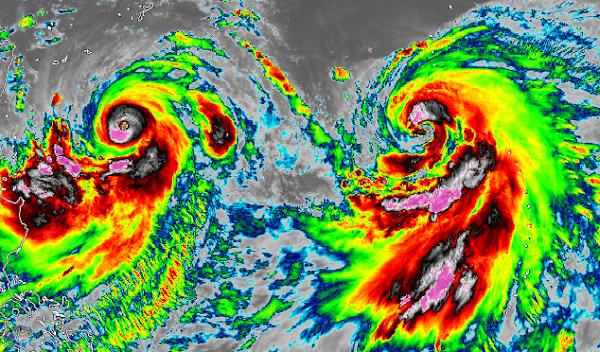 2 potentes tifones amenazan paises de asia