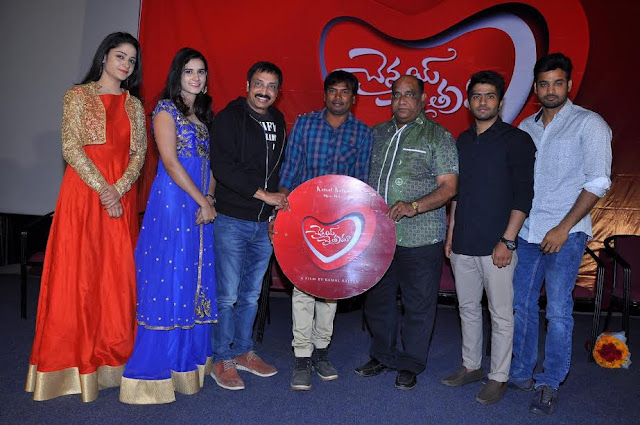 """Chennai Chaitra,"" the title of the logo launch  Movie Makers banner Kalyan Kamal Surya Srinivas, Akshay kurapati, divine, pravallika padrana natistonna characters of the movie ""Chennai Chaitra"" .Kamal Kalyan self darsakatvanlo terakekkutondi this film. The title of the film at Prasad Labs logo launch jarigindinirmatalu Raj kandukuri, sneezing village of Rama Satyanarayana logonu unveiled the title.   Hirolu Surya Srinivas, said Akshay .. cestunnamu a good love story. Citramuntundannaru to accommodate today's trend.  Hiroyin divine, saying pravallika .. from the title, each as to the role of design director Kalyan subarb cesaru. We are happy for being part of this is that in the film.  .. The gaze of the wedding, such as the director of the blockbuster producer Kalyan Kamal Raj kandukuri taken out, hundred films satyanatayana ceruvavutonna mega producer Rama Rao logonu title of our film is to be unveiled. Unnadanto that we receive, we are satisfied with the concept of ""Chennai Chaitra"" formed. Where this film is going to be a small saw with the family without pornography.  Speaking ramasatyanarayana tummalapalli .. good story, stories with the family friendly film, ""the Chennai Chaitra"" Kalyan Kamal on the film adaptation terakekkistundatam evidence of understanding. Many people have been inspired by the success of the wedding gaze. Chaitra tarahalo Chennai also did not get the same success. Short Film batrakalani said."