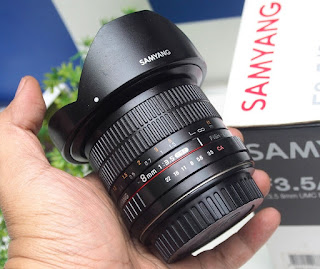 Lensa Fish Eye Samyang 8mm f3.5 CS2 for canon
