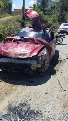 Roban 180 mil pesos a  jóvenes que sufren accidente en Arroyo Cano,  San Juan