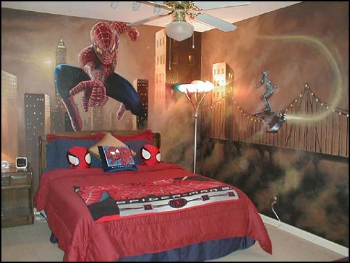Decorating theme bedrooms maries manor spiderman for Man u bedroom stuff
