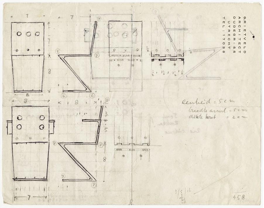 silla zig zag de rietveld menos es m s arquitectura y dise o los mejores interiores y casas. Black Bedroom Furniture Sets. Home Design Ideas