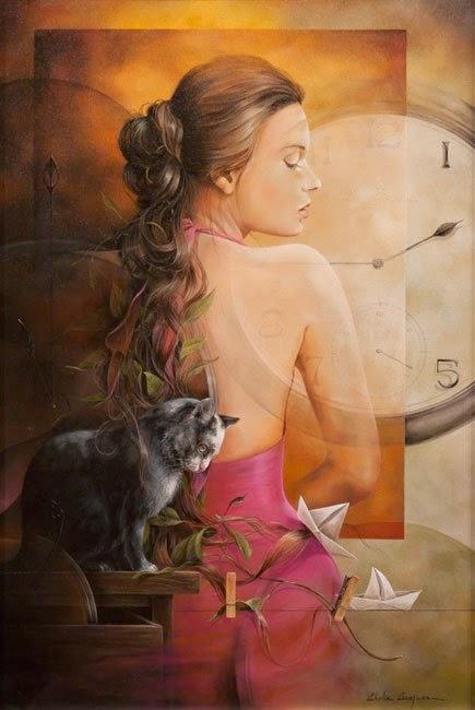 Às 01h45 - Chelìn Sanjuan e todo encanto em suas pinturas ~ Pintor espanhol