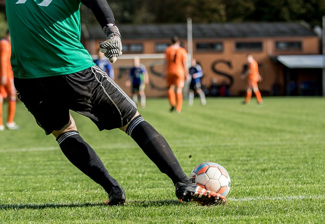Ball Football Players Sport Play Foot Goalkeeper