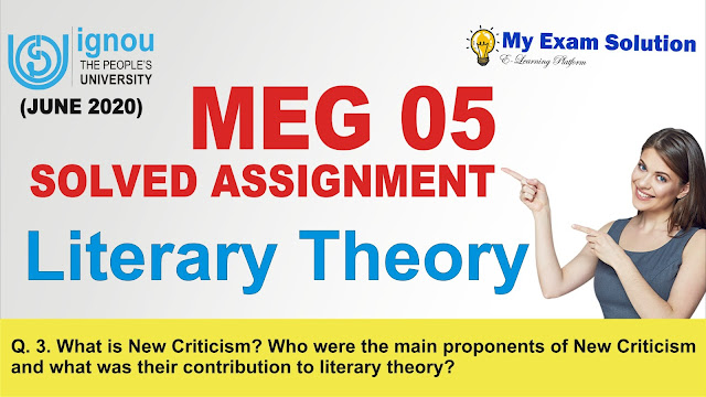 new criticism, new criticism theory, meg 05, literary theory assignment