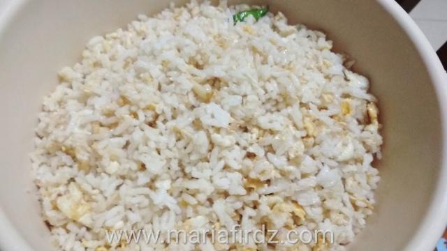 Menu Sarapan Ringkas : Nasi goreng telur style 5 Rencah 5 Rasa