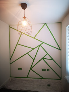 frog tape geometric painted wall what claire did