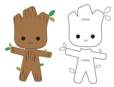 Baby Groot Free Printable Template