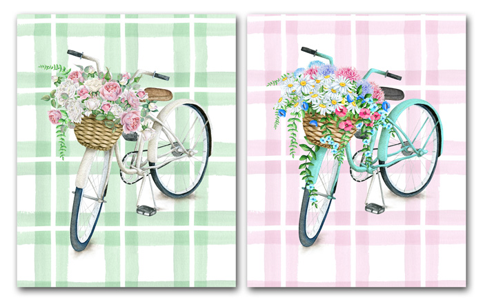 Plaid Bicycle Printable